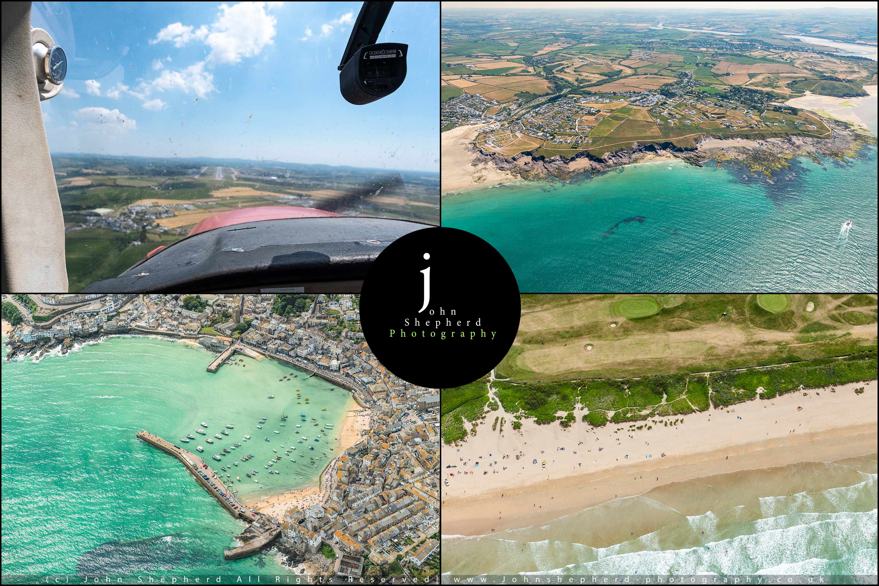 Aerial Photography over the Cornish Coast.